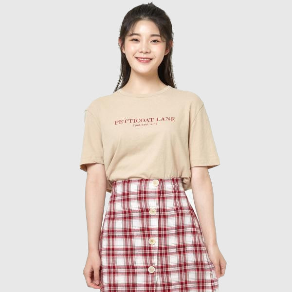 SPAO Women Short Sleeve Simple Letter Tee SPRW937G09