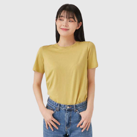 SPAO Woman Short Sleeve Basic Solid Tee SPRWA23G09