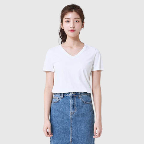 SPAO Woman Short Sleeve Basic V Neck Tee SPRWA23G10