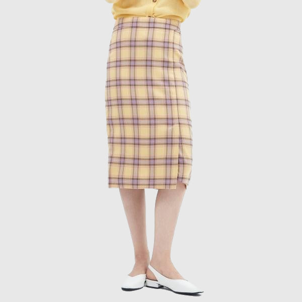 SPAO Women Check Midi Skirt SPWH923G25