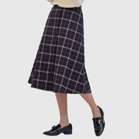 SPAO Woman Wool Long Skirt SPWH94VG77