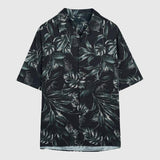 SPAO Men Short Sleeve Tropical Printing Shirt SPYAA26M21