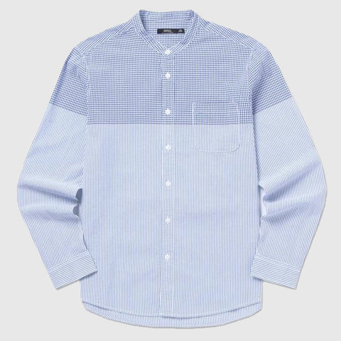 SPAO Men Long Sleeve Multi Check Seersucker Shirt SPYC725M20