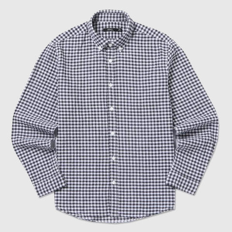 SPAO Men Long Sleeve Seersucker Linen Check Shirt SPYC725M22