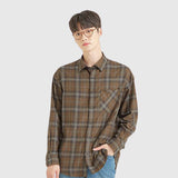 SPAO Men Long Sleeve Loose Fit Check Shirt SPYCA49C12