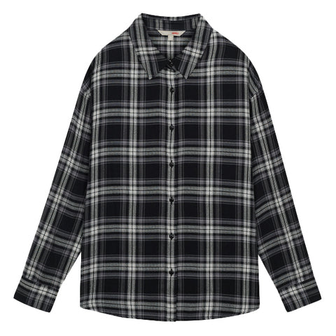 SPAO Women Long Sleeve Soft Flannel Check Shirt SPYCA49G01