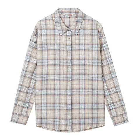 SPAO Women Long Sleeve Flannel Check Shirt SPYCA4TG01