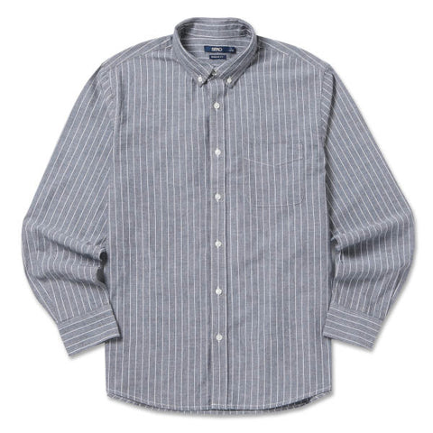 SPAO Men Long Sleeve Oxford Stripe Shirt SPYS738C04