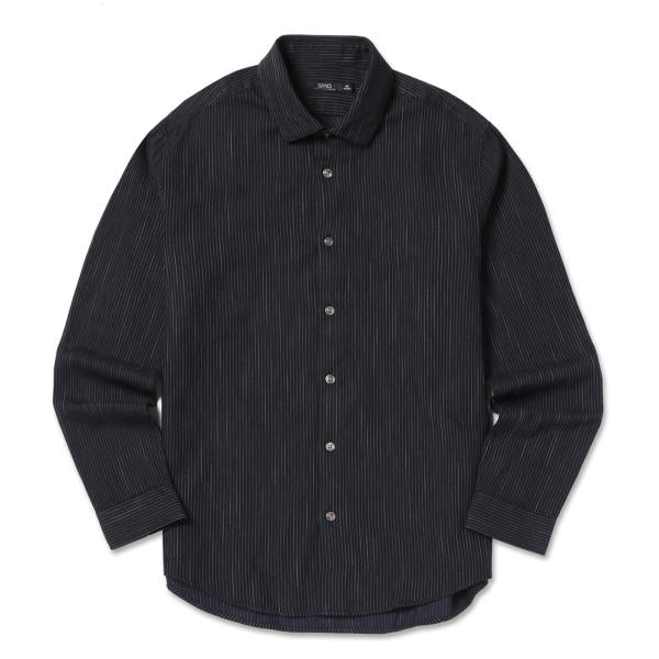 SPAO Men Long Sleeve Denim Like Pinstripe Shirt SPYS749M05