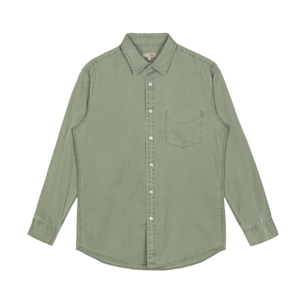 SPAO Men Long Sleeve Pigment Dying Shirt SPYWA22C07