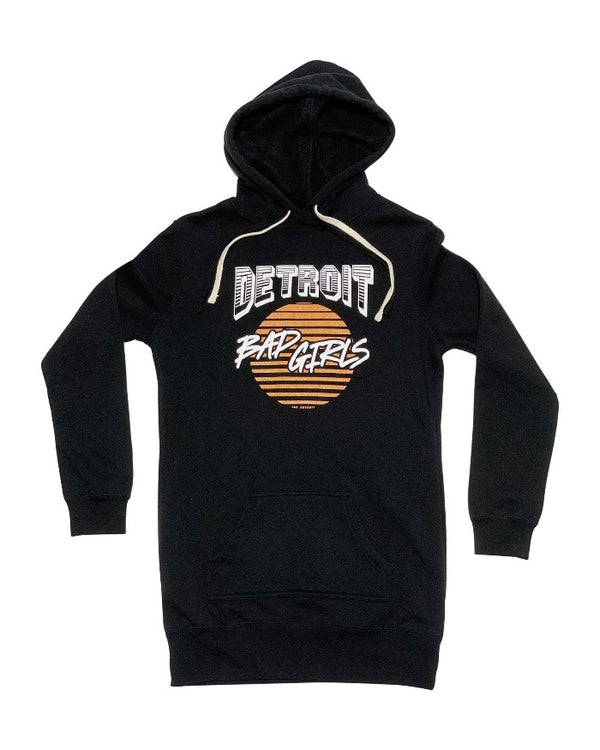 Ink Detroit Bad Girls Fleece Hoodie Dress