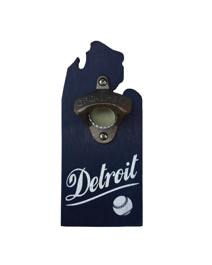 Ink Detroit Baseball Mitten Bottle Opener