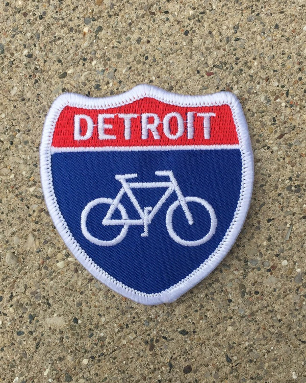 Ink Detroit Bike Highway Iron on Patch