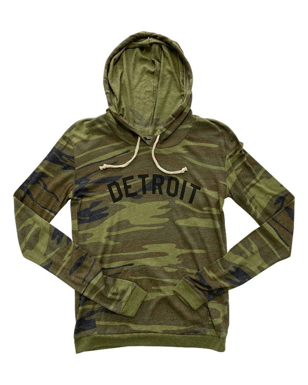 Ink Detroit Camouflage Women's Pullover Light Weight Hoodie