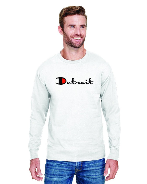 Ink Detroit Champion Long Sleeve T-Shirt - White
