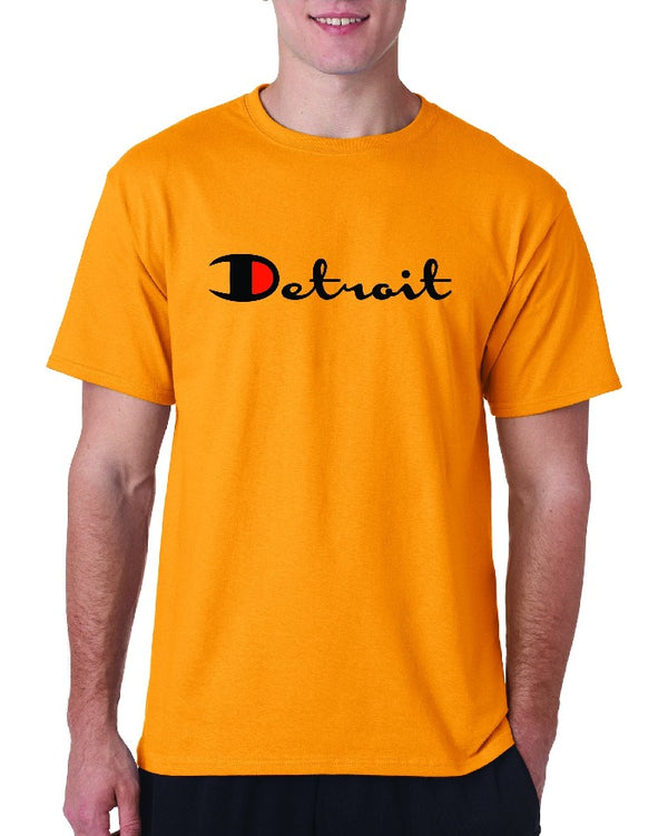 Ink Detroit Champion T-Shirt - Gold