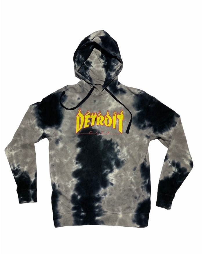 Ink Detroit City Thrasher Tie Dye Hoodie - Limited Edition
