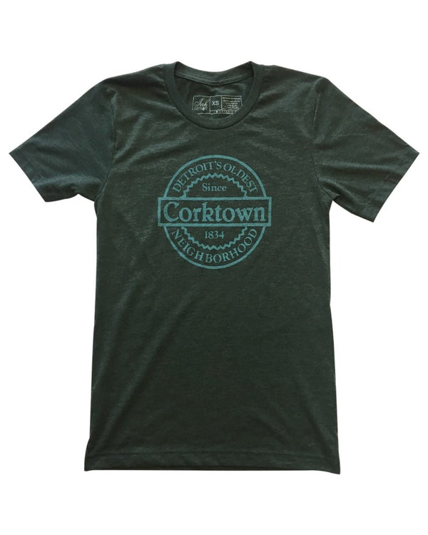 Ink Detroit Corktown T-Shirt - Forest Green