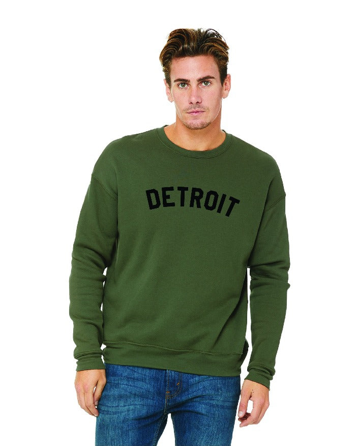 Ink Detroit Crewneck Sweatshirt - Military Green