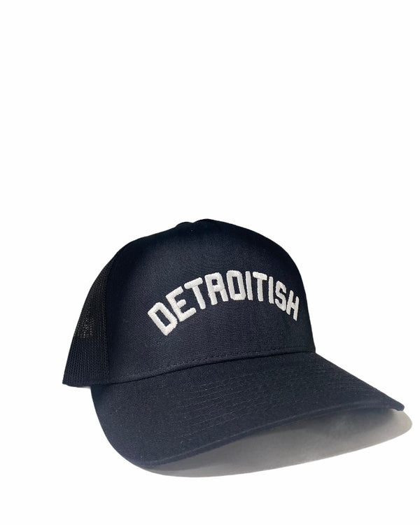 Ink Detroit Detroitish Black Trucker Cap