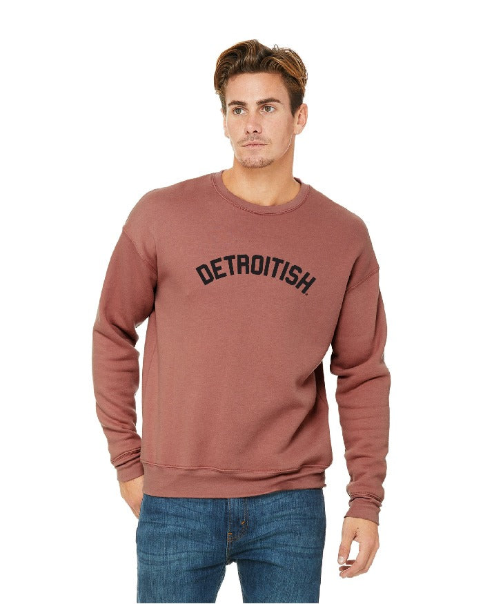 Ink Detroit Detroitish Crewneck Sweatshirt - Mauve
