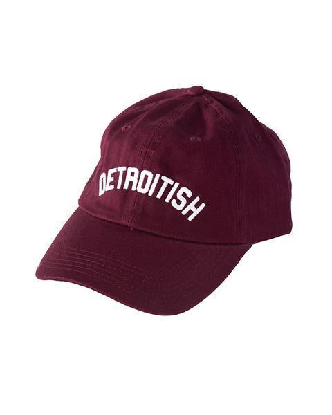 Ink Detroit Detroitish Dad Cap - Maroon