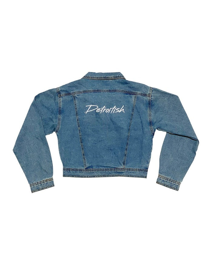 Ink Detroit Detroitish Dirty Script Ladies Jean Jacket