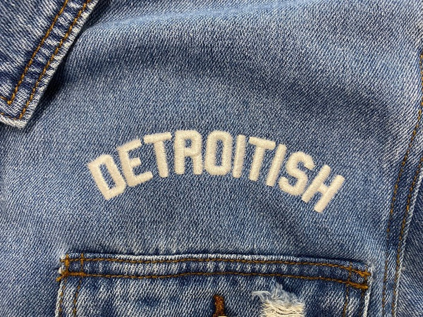 Ink Detroit Detroitish Ladies Jean Jacket