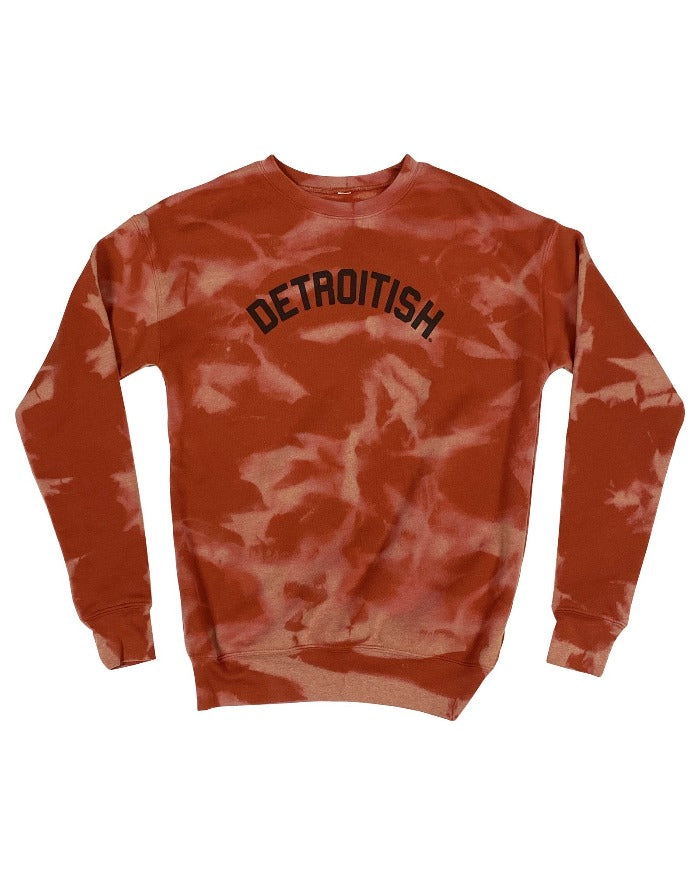 Ink Detroit Detroitish Limited Edition Reverse Dye Brick Crewneck Sweatshirt
