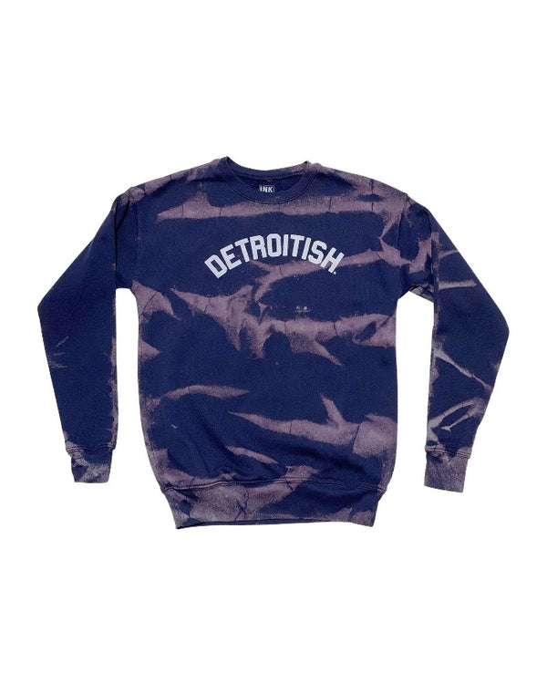 Ink Detroit Detroitish Limited Edition Reverse Dye Navy Crewneck Sweatshirt