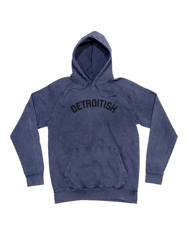 Ink Detroit Detroitish Mineral Wash Denim Blue Hoodie