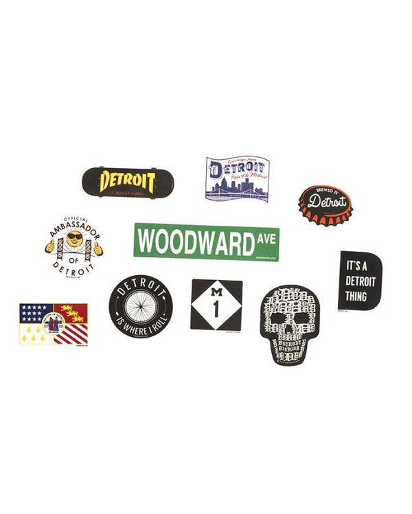 Ink Detroit Die Cut Vinyl Sticker Bundle
