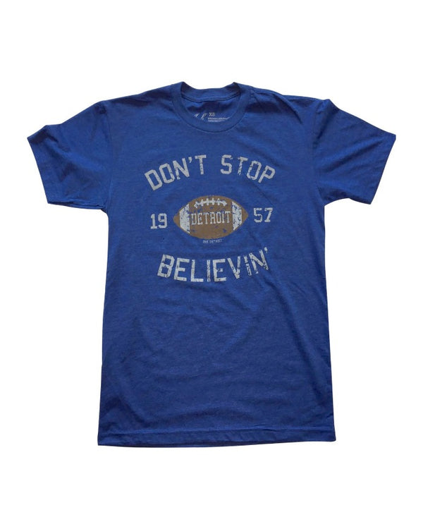 Ink Detroit Don't Stop Believing 1957 T-Shirt - Royal Blue