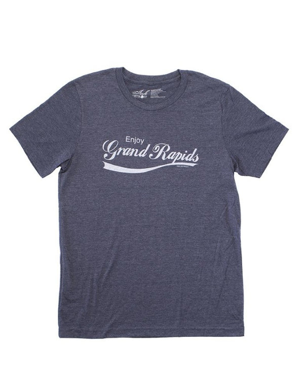 Ink Detroit Enjoy Grand Rapids T-Shirt - Navy