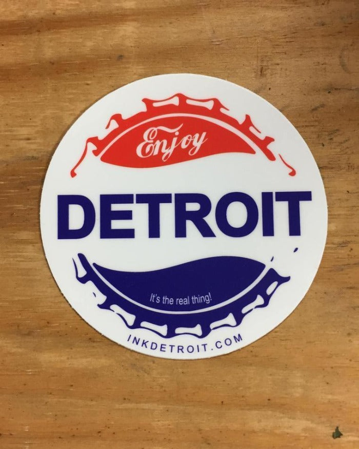 Ink Detroit Enjoy Detroit Vinyl Die Cut Sticker