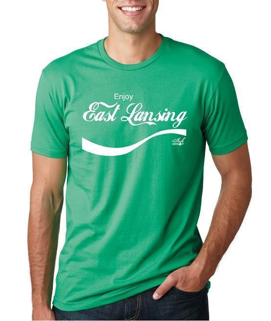 Ink Detroit Enjoy East Lansing T-Shirt - Green
