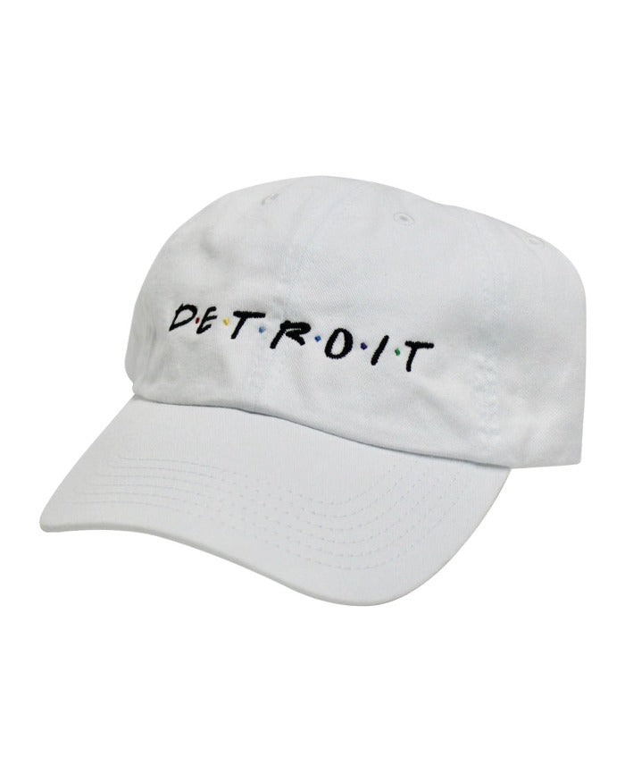 Ink Detroit Friends Dad Cap - White