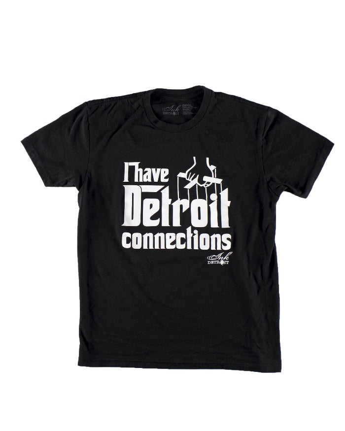 Ink Detroit I Have Detroit Connections Toddler T-Shirt - Black