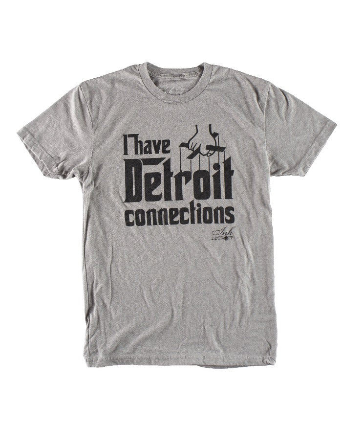 Ink Detroit I Have Detroit Connections Youth T-Shirt - Grey