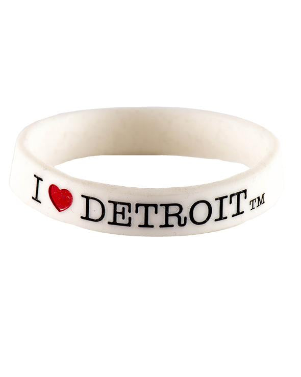 Ink Detroit I Love Detroit Bracelet - White