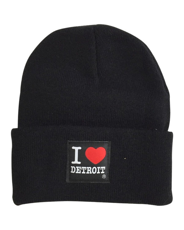 Ink Detroit I Love Detroit Knit Beanie with Cuff - Black