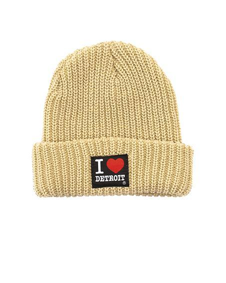 Ink Detroit I Love Detroit Lumberjack Knit Beanie with Cuff - Chino