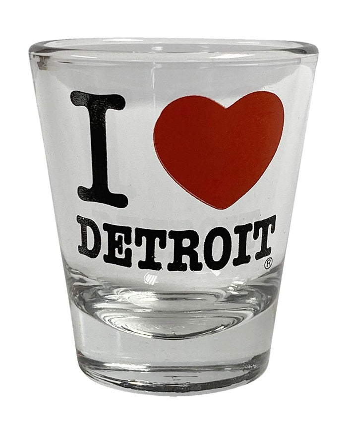 Ink Detroit I Love Detroit Shot Glass