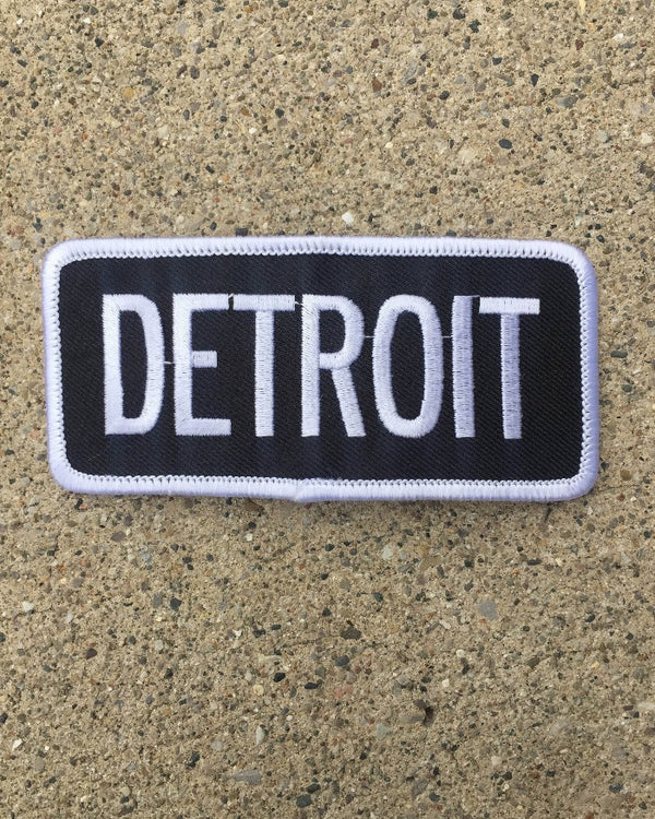 Ink Detroit Iron on Patch
