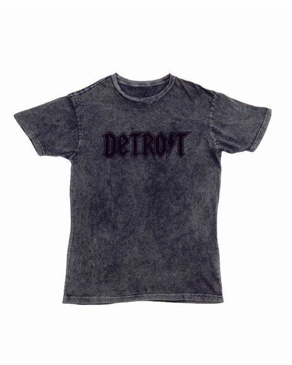 Ink Detroit Lightning Mineral Wash Black T-Shirt