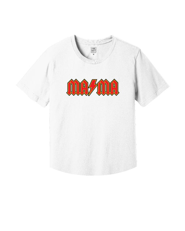 Ink Detroit MAMA kinda cropped white T-Shirt
