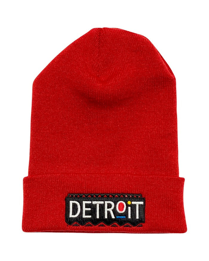 Ink Detroit Martin Beanie - Red