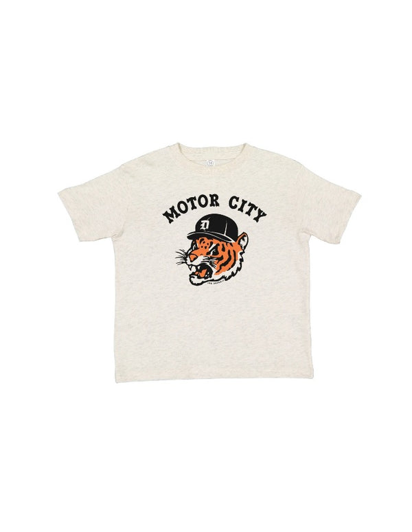 Ink Detroit Motor City Kitty Toddler T-Shirt - Natural