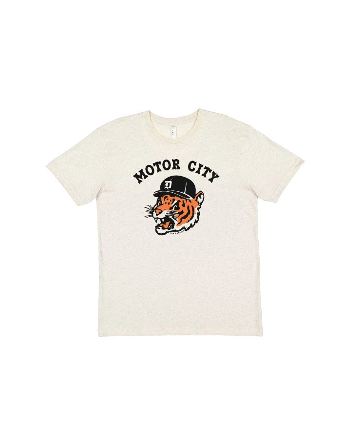 Ink Detroit Motor City Kitty Youth T-Shirt - Natural Heather