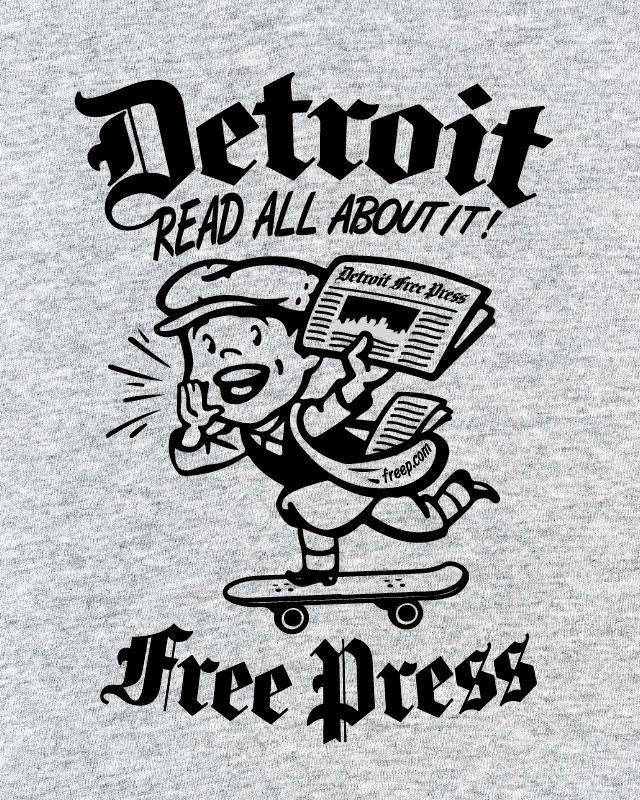 Ink Detroit Read All About It Free Press T-Shirt